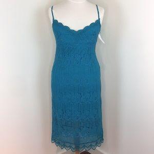 NSR Teal Lace Dress